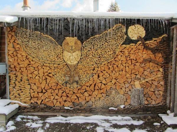 Owl Fire Wood Art