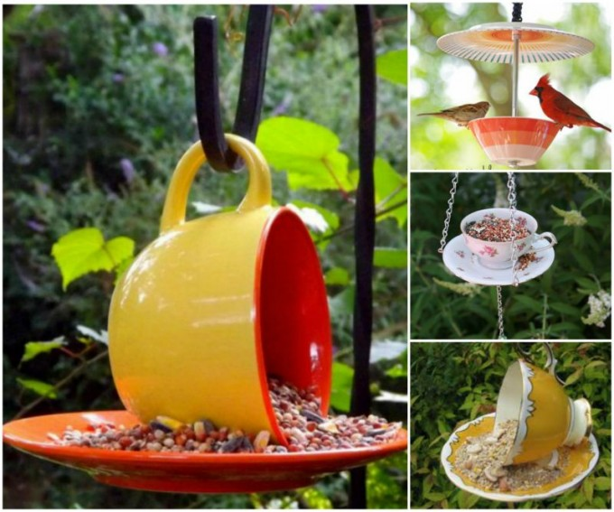 DIY Teacup & Mug Bird Feeders