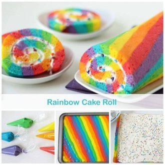 Rainbow Cake Roll