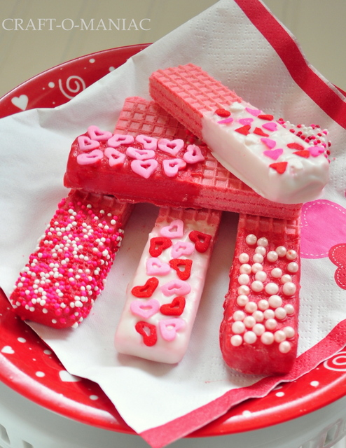Easy Valentine's Day Chocolate Dipped Wafer Cookies