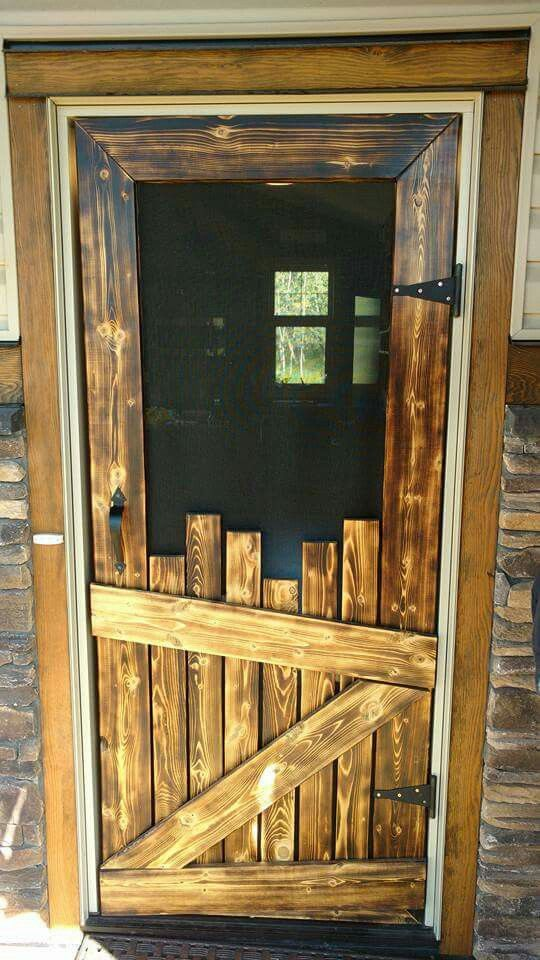 Wood Screen Doors With Removable Screens : The best diy wood pallet ideas kitchen fun with my sons
