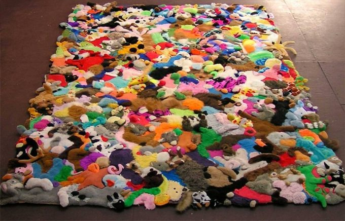 Make a Rug with old Stuffed Animals!