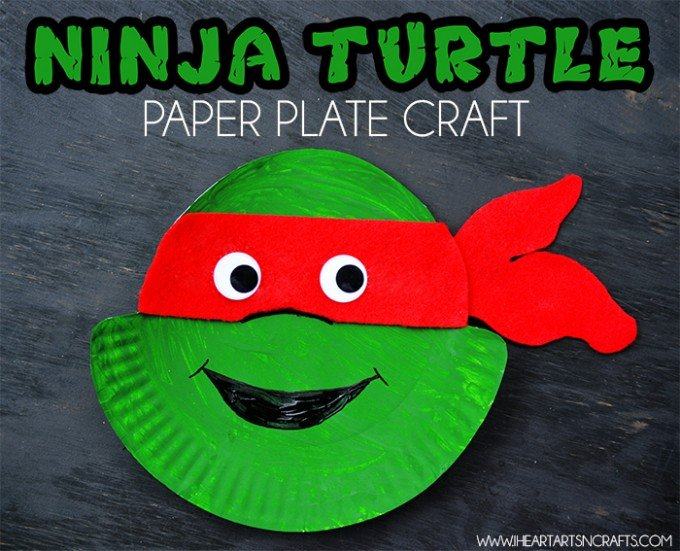 Ninja Turtles Paper Plate Craft