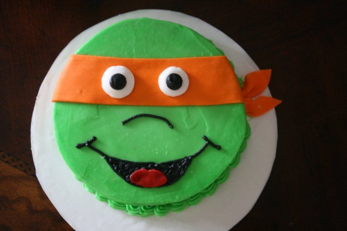 Easy Ninja Turtle Cake
