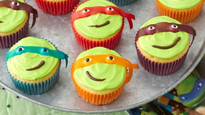 Easy Teenage Mutant Ninja Turtle Cupcakes