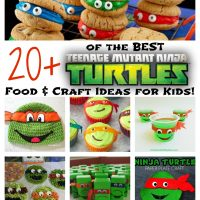Over 20 of the BEST Teenage Mutant Ninja Turtles Food & Craft Ideas for Kids! KitchenFunWithMy3Sons.com