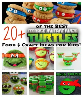 Over 20 of the BEST Teenage Mutant Ninja Turtles Fun Food & Craft Ideas for Kids!