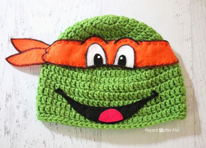 TMNT Crochet Hat Pattern