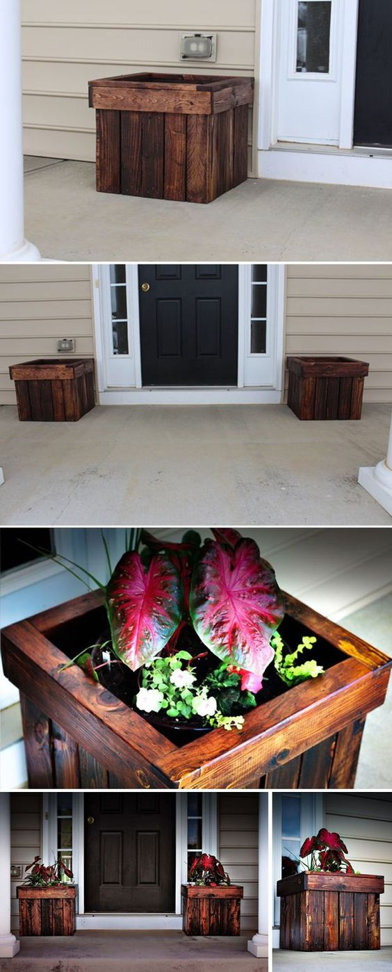 DIY Wood Pallet Planter Pots