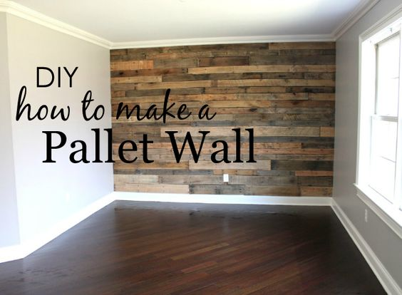 How to make a wood pallet wall