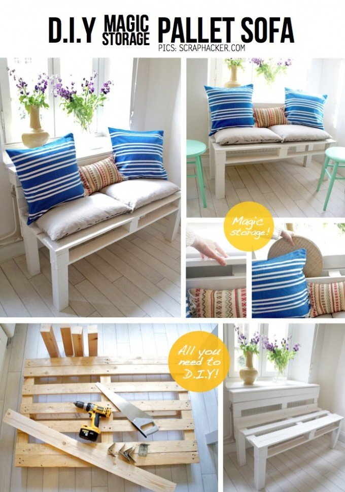 DIY Pallet Sofa Tutorial