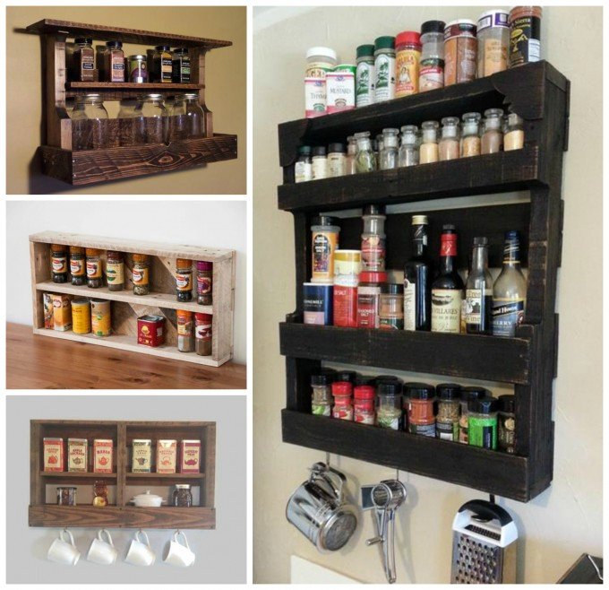 DIY Wood Pallet Spice Rack....for your Kitchen!
