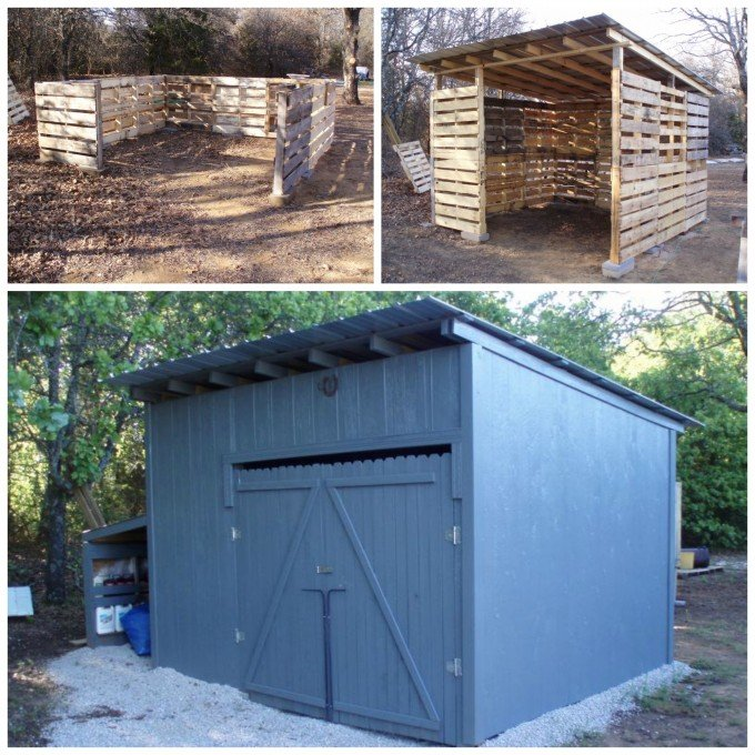 Garden Shed Made From Pallets : The best diy wood pallet ideas kitchen fun with my sons