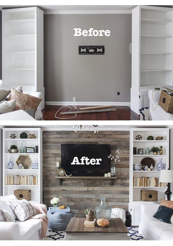 DIY Pallet Accent Wall...awesome Pallet ideas!
