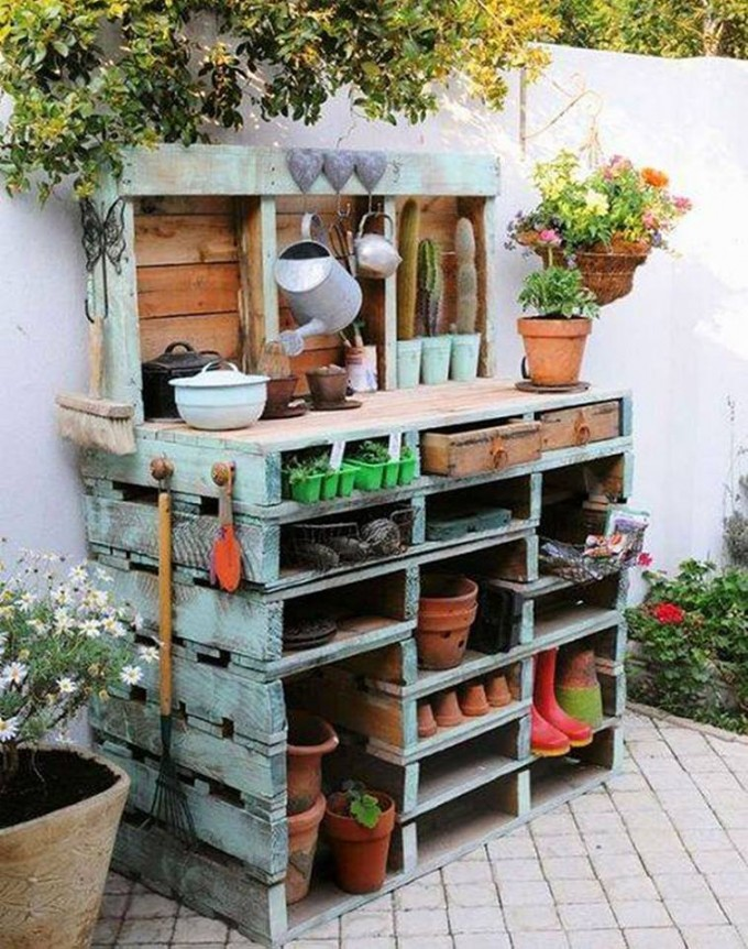 The best diy wood pallet ideas kitchen fun with my 3 sons for Amenagement jardin palette
