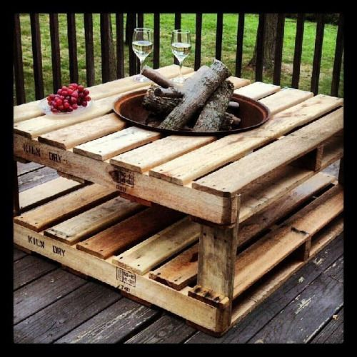 Pallet Fire Pit...these are the BEST DIY Pallet & Wood Ideas!