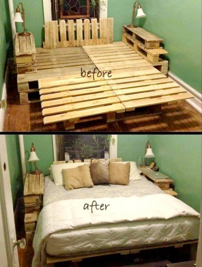wood pallet furniture ideas. DIY Pallet Bed Frame...these Are The BEST Ideas! Wood Furniture Ideas A