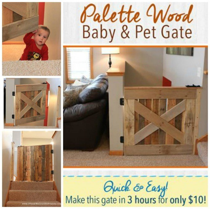 DIY Wood Pallet Baby & Pet Gate