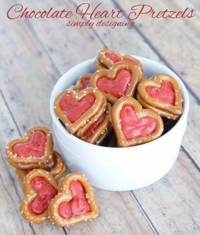 Valentine Chocolate Pretzel Hearts