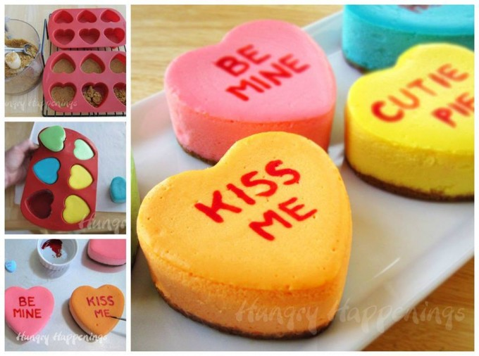 Valentine Conversation Cheesecake Hearts