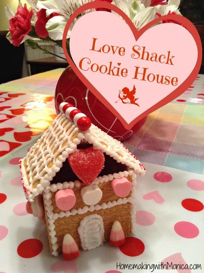 Valentine's Day Graham Cracker Love Shack Cookie House