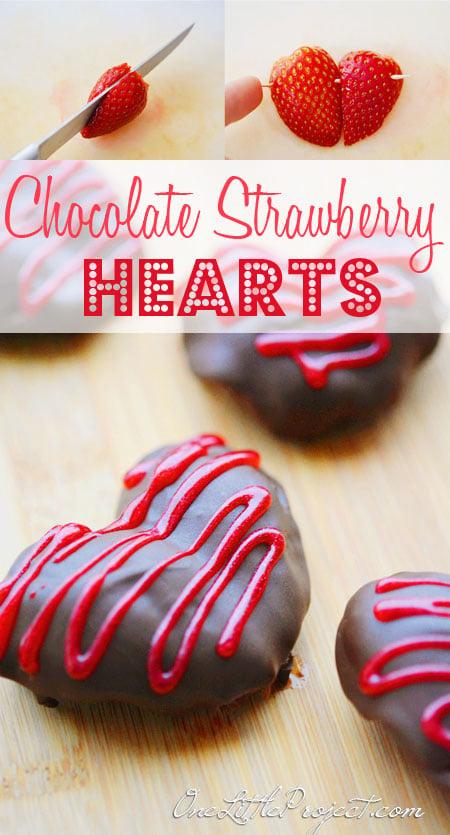 Valentine Chocolate Strawberry Hearts