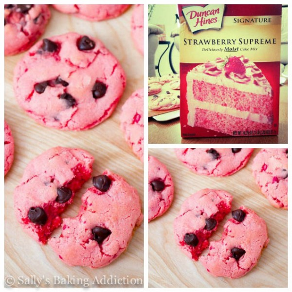 Valentine Strawberry Chocolate Chip Cookies