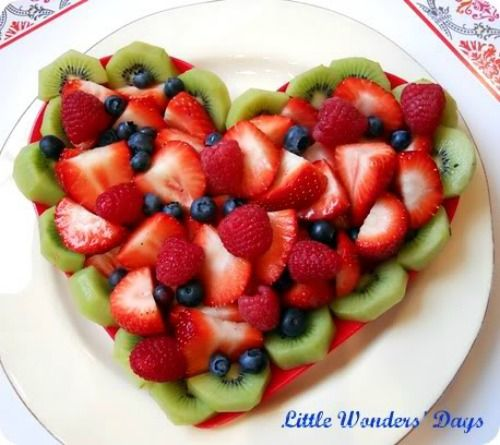 Valentine's Day Healthy Heart Fruit Snack