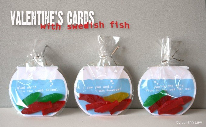 Swedish Fish Valentine's Cards