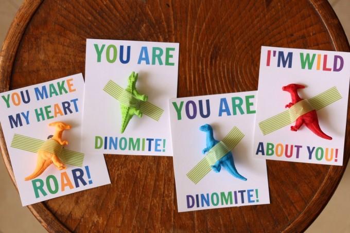 Dinosaur Valentine Cards