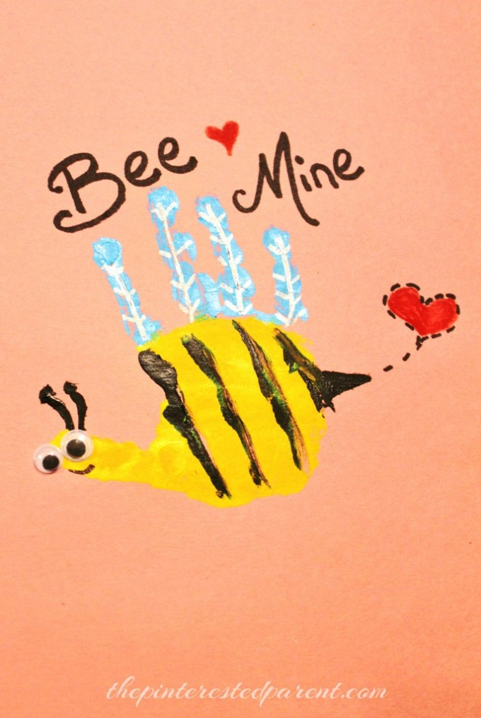 Bee Mine Handprint Valentine