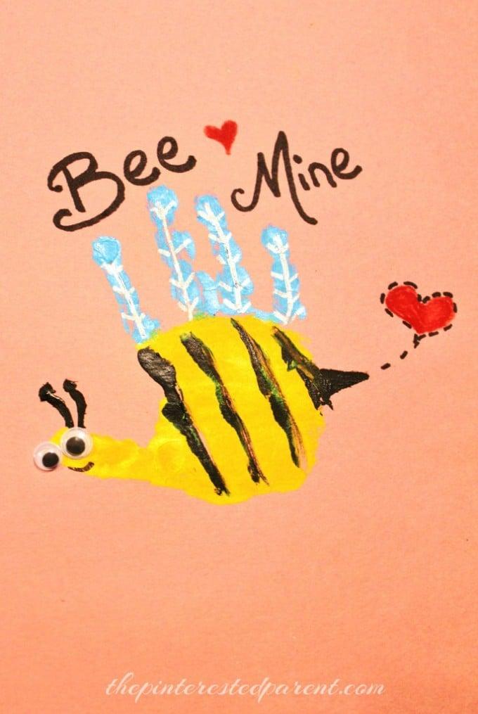 Bee Mine Handprint Valentine