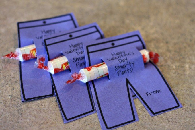 Valentines Day Craft Ideas For Kids Part - 42: Valentineu0027s Day Smartie Pants Cards. U201c
