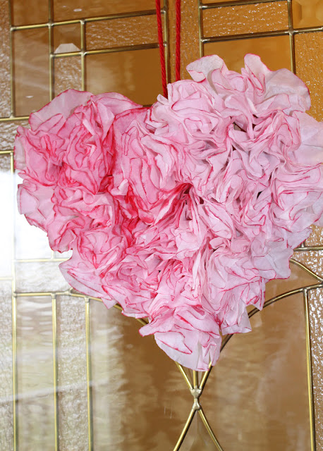 Valentine's Day Heart Coffee Filter Wreath