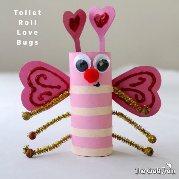 Valentine Toilet Roll Love Bugs