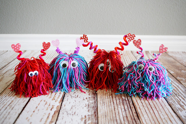 Lil Yarn Love Monsters for Valentine's Day
