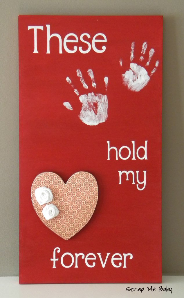 These Hands Hold My Heart Forever Valentine's Day Art Print