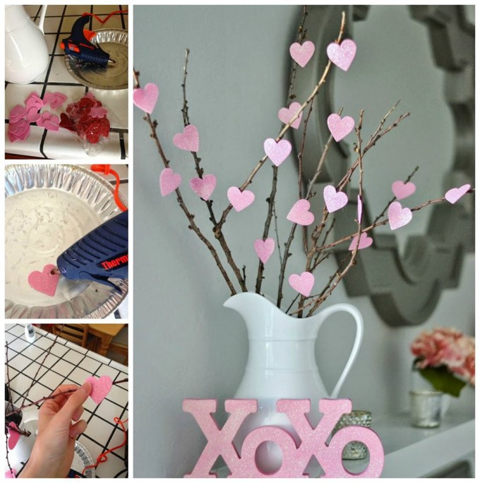 DIY Valentine Heart Tree