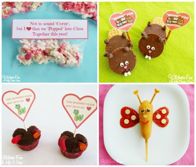 Valentine's Day Fun Foods, Treats, & Free Printables from KitchenFunWithMy3Sons.com