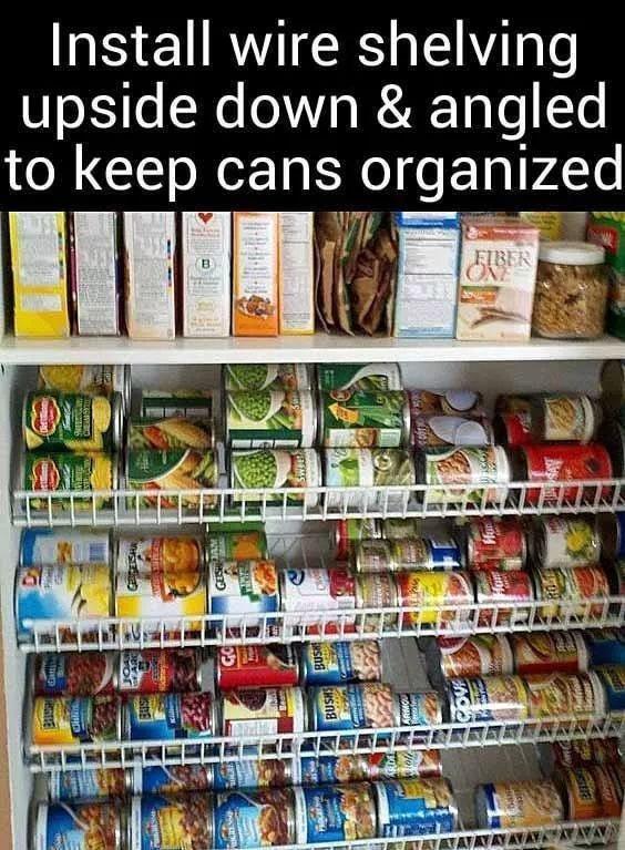 How to organize canned food in the pantry