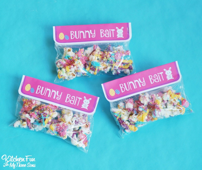 photo regarding Bunny Bait Printable known as Bunny Bait - Easter White Chocolate Funfetti Popcorn with a