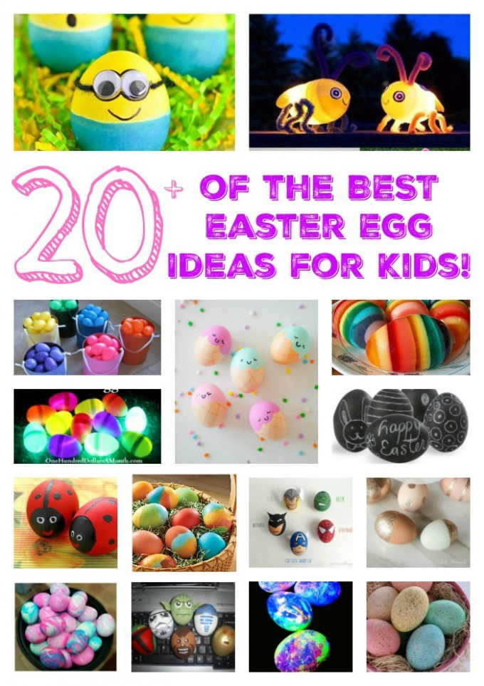 Over 20 of the BEST Easter Egg Ideas for Kids from KitchenFunWithMy3Sons.com