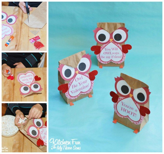 Valentine Day Kids Craft Owl Printable