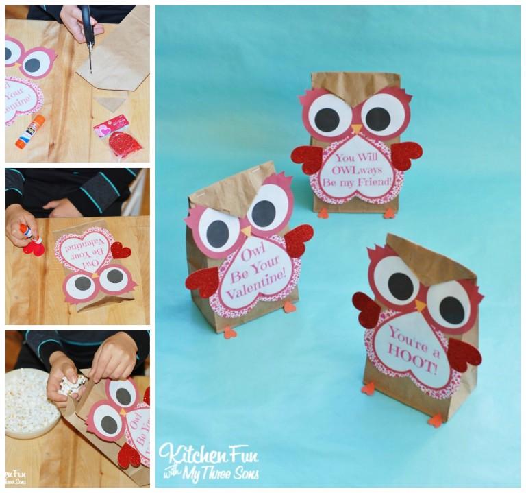 valentine owl craft free preschool crafts - 768×719