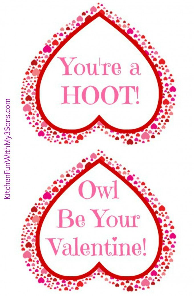 image about Printable Valentines Craft identify Valentine Owl Craft - Paper Handle Baggage with a No cost Printable