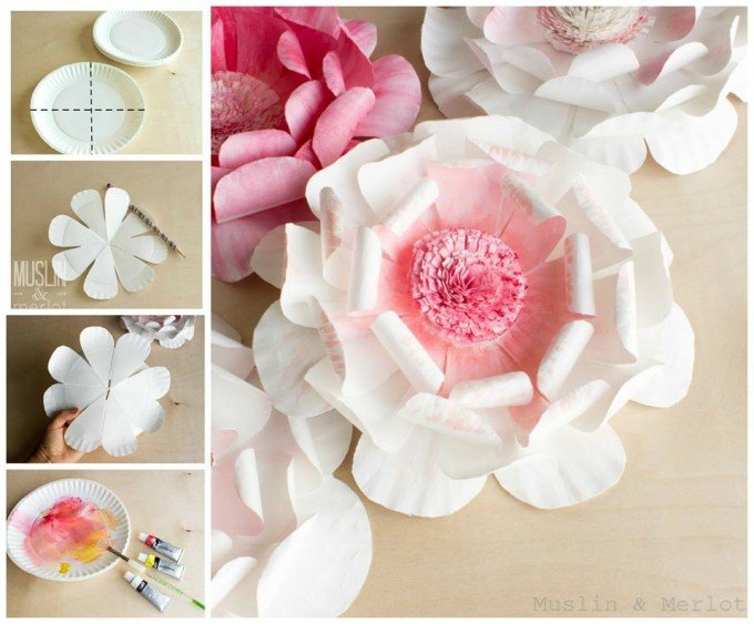 DIY Paper Plate Flower Craft for Spring!