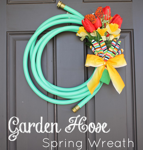 Garden Hose Wreath...for Spring!