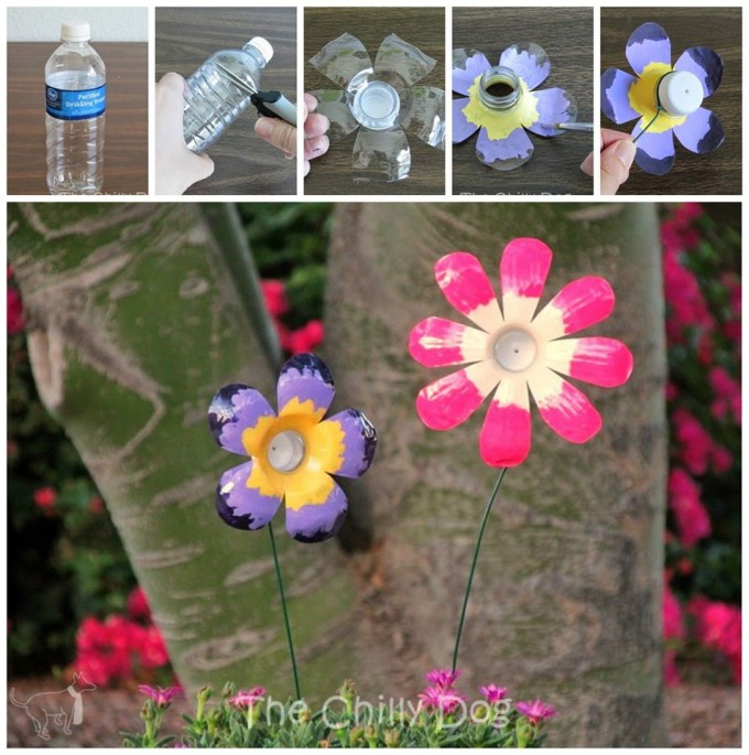 DIY Plastic Bottle Flowers