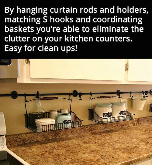 Organize Kitchen Counters: 20+ Of The BEST DIY Home Organizing Hacks And Tips!
