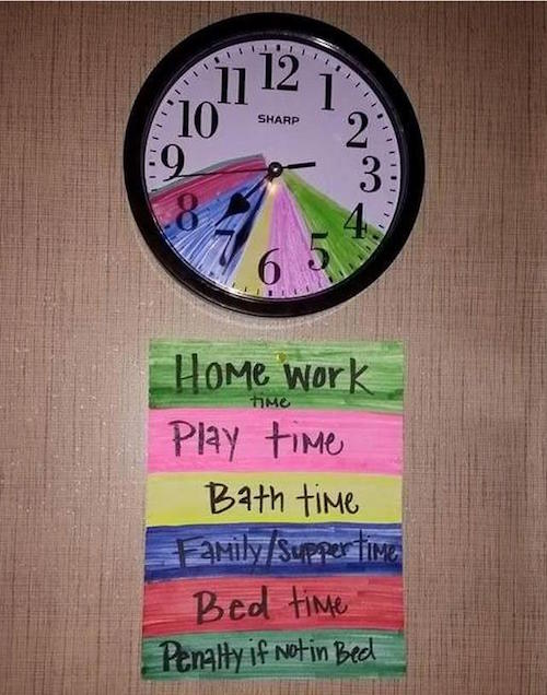 Teaching Time Management to Kids....these are the BEST Family Organization Ideas!